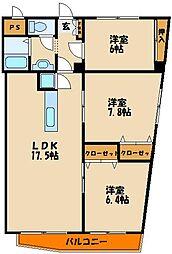 岸本マンション[4階]の間取り