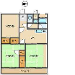 三和不動産ビル[4階]の間取り