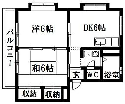 札木ハイムS[1階]の間取り