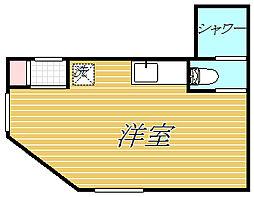 ロータスガーデン東大島[2階]の間取り