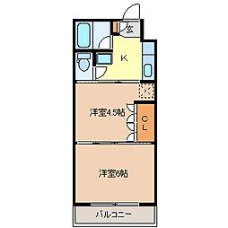 イーグルハイツ宮千代[4階]の間取り