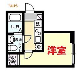 JR京浜東北・根岸線 磯子駅 徒歩9分の賃貸アパート 1階1Kの間取り