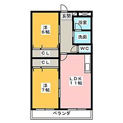 丸竹マンション[4階]の間取り