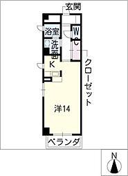 STATION池下[4階]の間取り