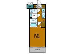 プレサンスOSAKADOMECITYスクエア 7階1Kの間取り