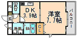 兵庫県伊丹市北河原4丁目の賃貸アパートの間取り