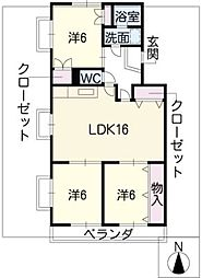 本山マンション[2階]の間取り