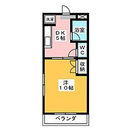 ラ・メールキャルム[1階]の間取り
