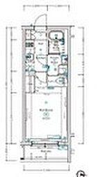 西武池袋線 椎名町駅 徒歩4分の賃貸マンション 4階1Kの間取り