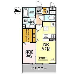 兵庫県姫路市大津区勘兵衛町2丁目の賃貸アパートの間取り