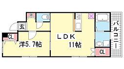 兵庫県神戸市中央区北野町4丁目の賃貸マンションの間取り