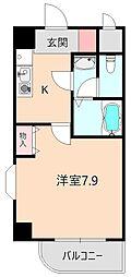 カーサ北桜塚[201号室]の間取り