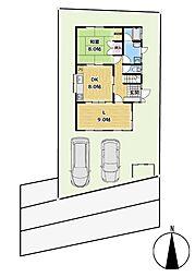 平群駅徒歩6分 4SLDK 駐車場2台分の工事付 4SLDKの間取り