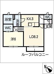 仮)姫小川町新築アパート東棟[2階]の間取り