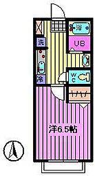 埼玉県さいたま市大宮区高鼻町3の賃貸アパートの間取り
