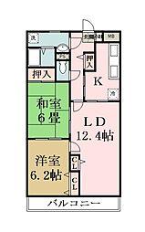 クレドール草加[3階]の間取り
