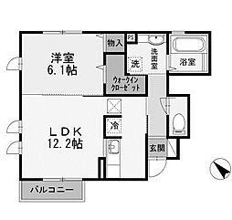 シェール[1階]の間取り