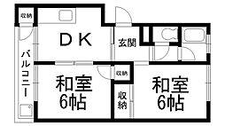 第一岸田マンション[0203号室]の間取り