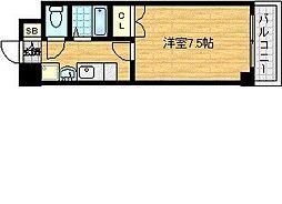 梅田エクセルハイツ[3階]の間取り