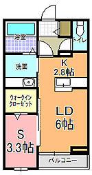 仮)元吉田アパート[2階]の間取り
