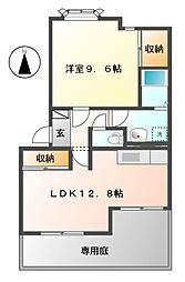 岐阜県可児市広見の賃貸アパートの間取り