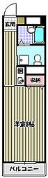 大阪府堺市北区百舌鳥梅北町1丁の賃貸マンションの間取り
