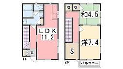 [テラスハウス] 兵庫県加古川市加古川町中津 の賃貸【/】の間取り
