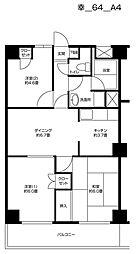 グランドゥル新川崎[402号室]の間取り