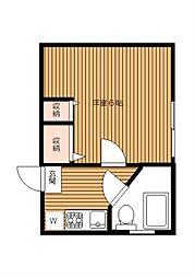 ミツボシマンション 幡ヶ谷11分 陽当り良好最上階角部屋[3階]の間取り