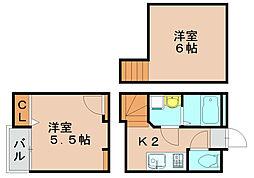 クレオ箱崎北参番館[2階]の間取り
