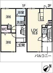 [タウンハウス] 三重県松阪市荒木町 の賃貸【/】の間取り