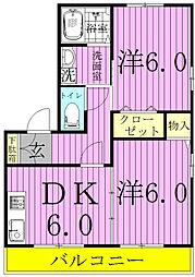 メゾン・タカミ2[1階]の間取り
