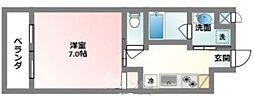 沖縄都市モノレール 赤嶺駅 徒歩25分の賃貸マンション 5階1Kの間取り