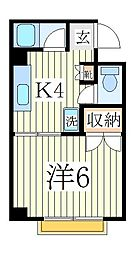 サンコーポ・マスダ[2階]の間取り