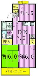 ストークタウンA・B[2階]の間取り
