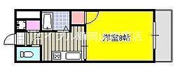 岡山県岡山市中区賞田丁目なしの賃貸マンションの間取り