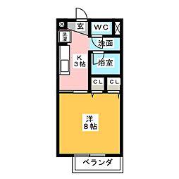 FLAT ONE[2階]の間取り