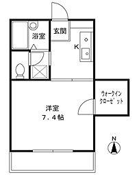 神奈川県川崎市高津区下作延6丁目の賃貸アパートの間取り