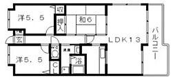 グレイシャス駒川[5階]の間取り