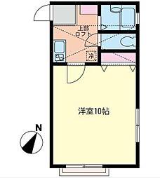 神奈川県横浜市南区庚台の賃貸アパートの間取り