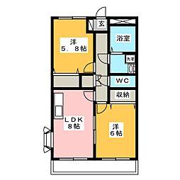 BELL CRESTII[1階]の間取り