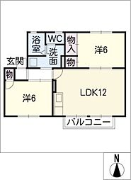 セジュ−ルドアイ[2階]の間取り