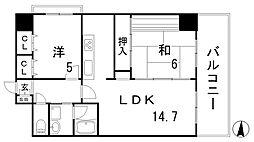 LP神戸[310号室]の間取り