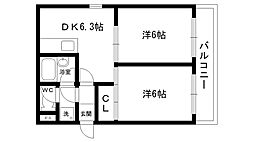ロイヤルメゾン甲子園口III[201号室]の間取り