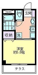 ラビングパレス西武柳沢[101号室]の間取り