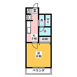 SHINKO TASHIRO[8階]の間取り