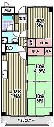 シャルマン徳川[3階]の間取り