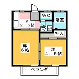 桜井ハイツ2[2階]の間取り