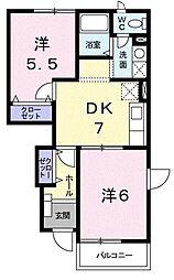 パレットハウス[0102号室]の間取り