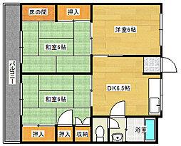 弥栄マンション[1階]の間取り